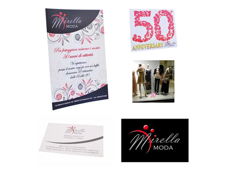 Studio e realizzazione corporate identity: logo, biglietto da visita, cartolina evento, desk display